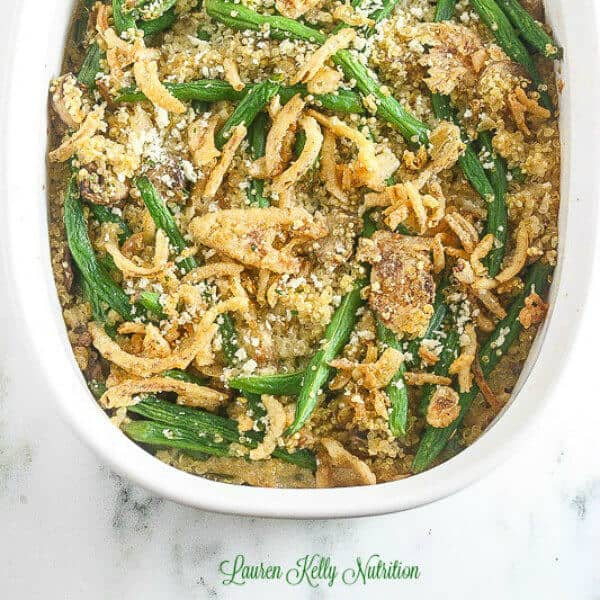 Green Bean Quinoa Casserole - Lauren Kelly Nutrition