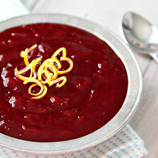 Homemade Orange Cider Cranberry Sauce - Snappy Gourmet